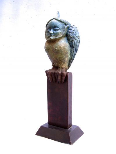 "MASSEY, FIDELMA, ""LITTLE OWL ONE"", BRONZE, EDITION 9, 30X12X12CM"