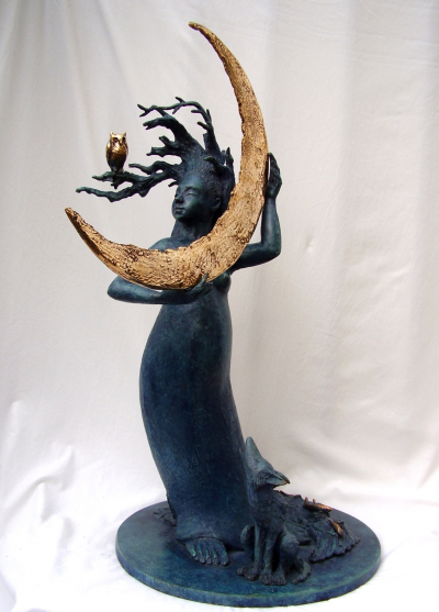 "MASSEY, FIDELMA, ""MOONRISE"", BRONZE, EDITION 9 48X27X27CM"